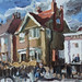 in front of 'Cappuccino's' café - Bridlington by Clive Holloway