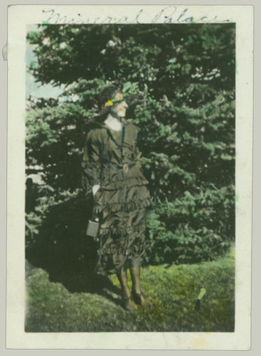 Woman and Trees