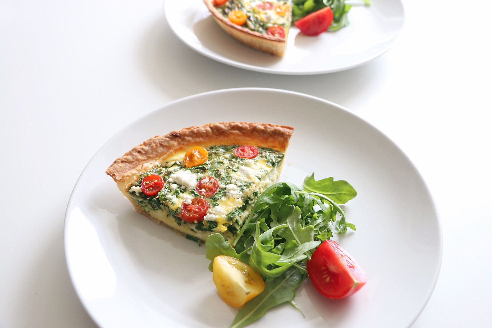 spinach & goat cheese quiche 6