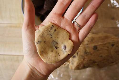 surprise chocolate chip cookie