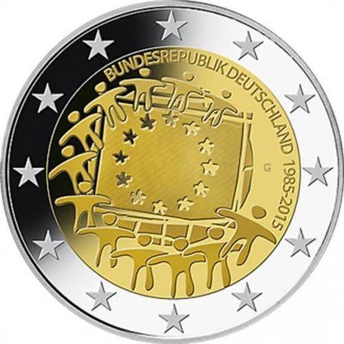2 Euro Nemecko 2015 D, Vlajka EÚ