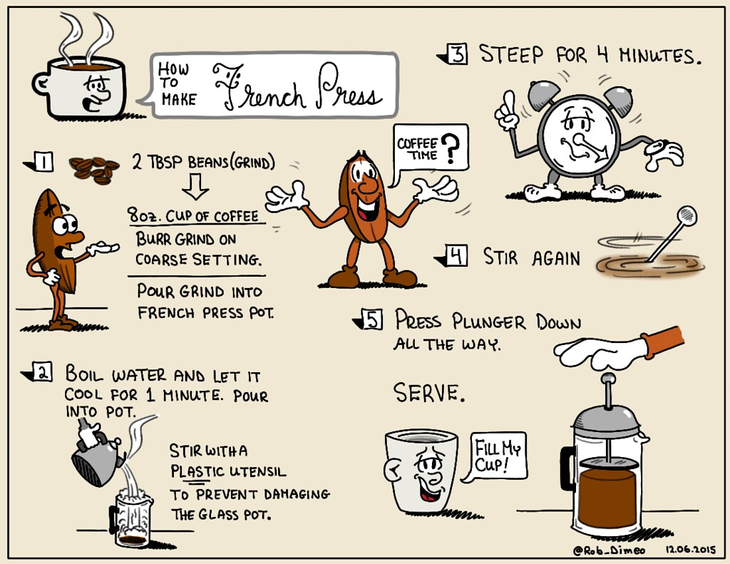 how to drink french press coffee