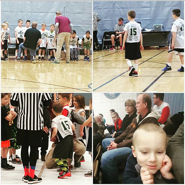 Basketball starts today.  The most wonderful time of the year.  Both of my boys are number  15, on accident.  Both are coached by their dad, and elliott by #coachkarl too.  But Wyatt is wearing socks that @willie_petersen44 would be proud of.