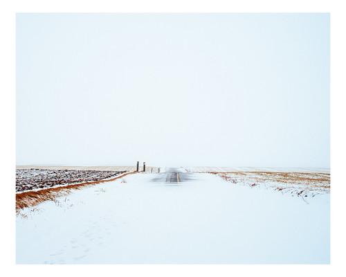 snow rural landscape fields