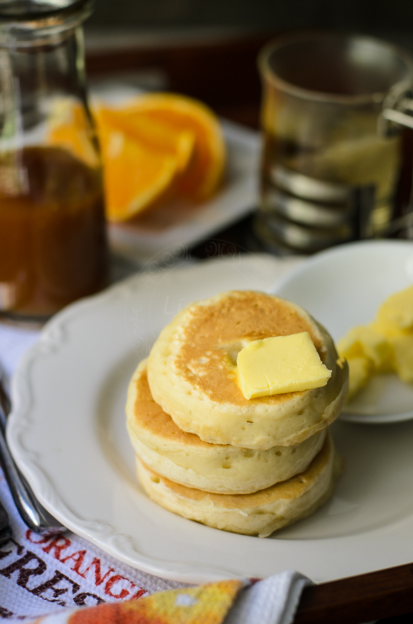 Delicious Crumpets with Caramel Butterscotch Syrup.