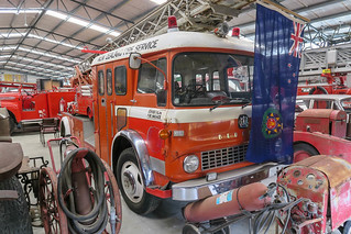 National Transport & Toy Museum, Wanaka, NZ - Bedford Fire Engine