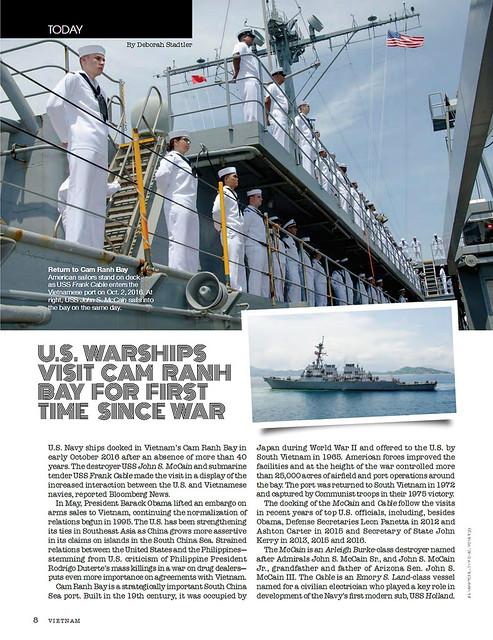 VIETNAM Magazine February 2017 (1) - Chiến hạm Mỹ viếng thăm Vịnh Cam Ranh lần đầu sau chiến tranh