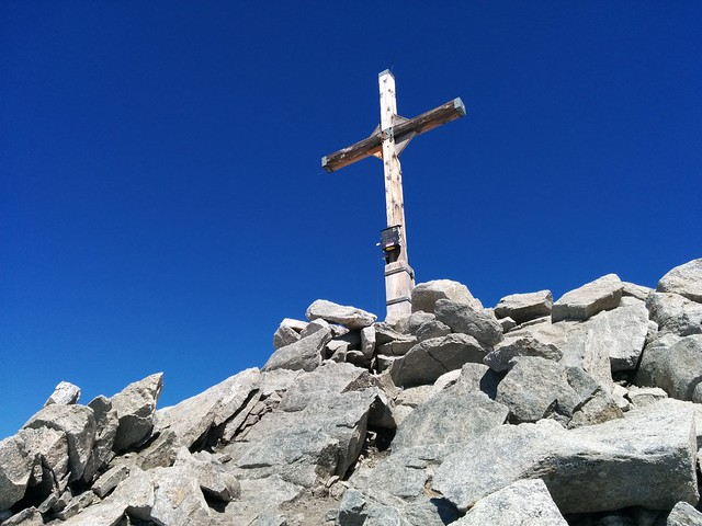 Gipfelkreuz Großer Möseler 3.478 m, Zillertaler Alpen