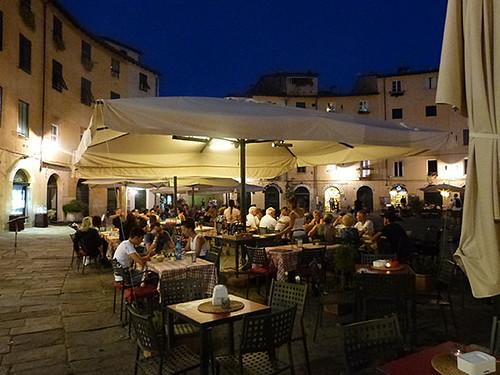 fin de soirée à Lucca