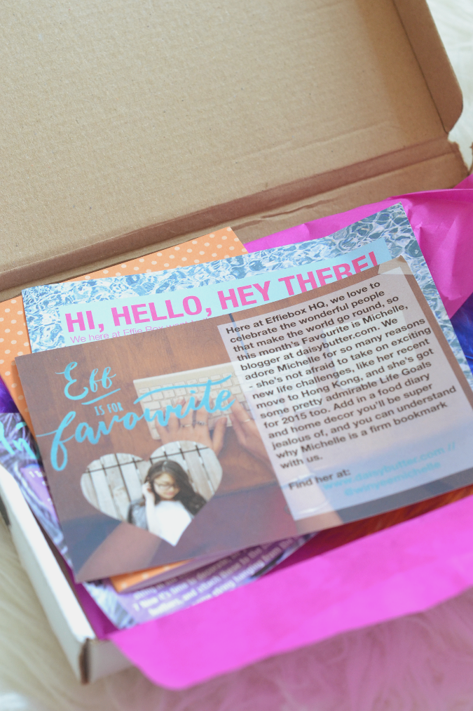 Daisybutter - Hong Kong Lifestyle and Fashion Blog: Effie Box review, monthly crafting subscription