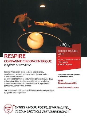 LA QUINTAINE à Chasseneuil-du-Poitou - 2015 - RESPIRE - 09 10 2015 acrobatie et jonglerie