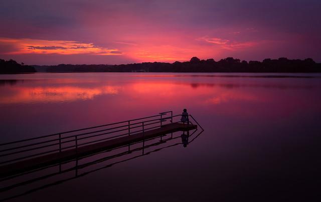 Reflection of sunset