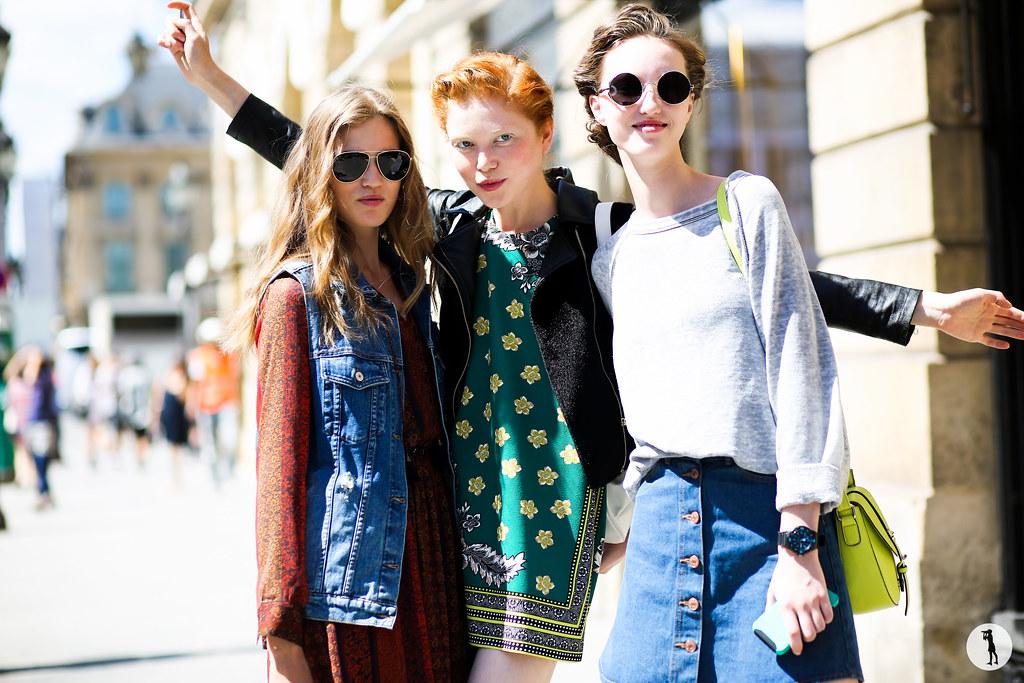 Models at Paris Fashion Week Haute Couture