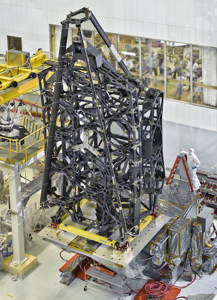 NASA's James Webb Space Telescope Structure Stands Tall