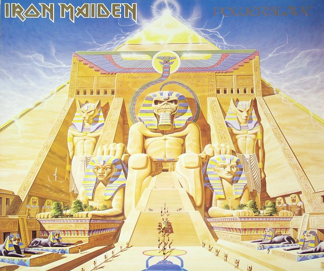 IRON MAIDEN POWERSLAVE + LYRICS SLEEVE England
