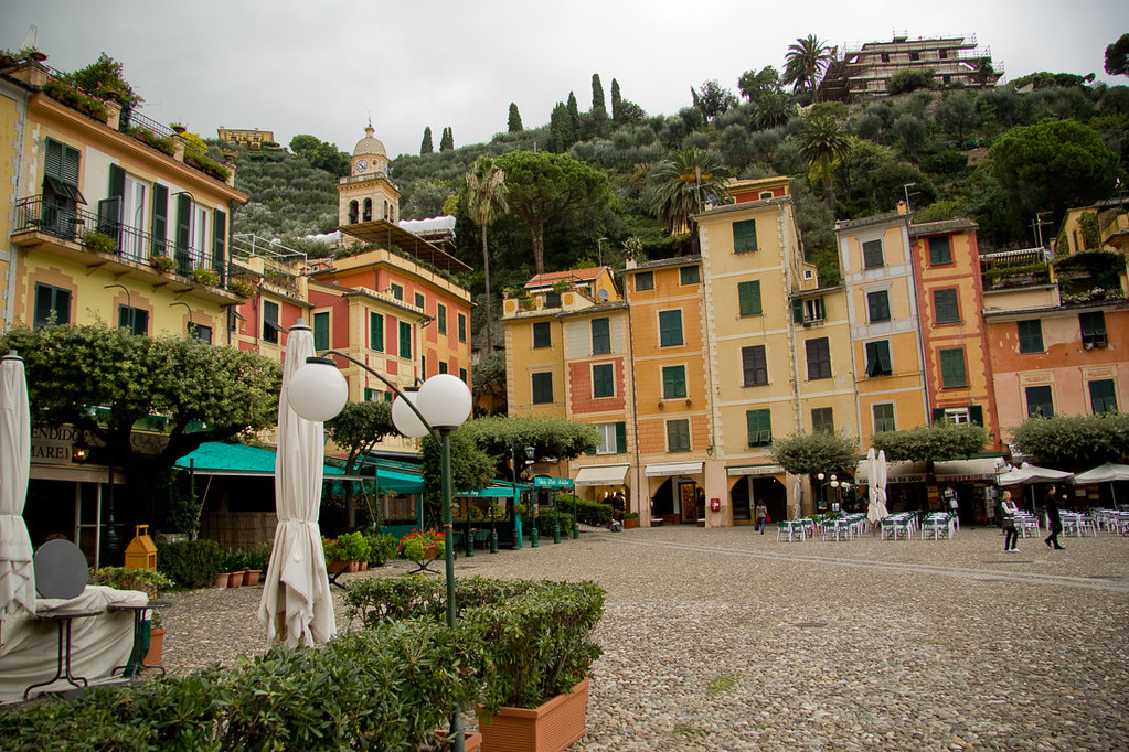 Walking around Portofino, Italy