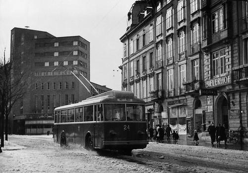 75 Jahre Trolleybus in Biel - Historische Bilder - Öffentlich