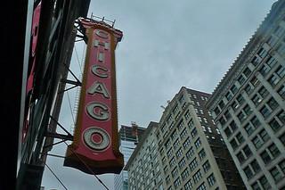 Chicago - Chicago Theatre sign