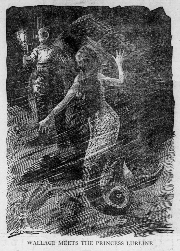 Walt McDougall - The Salt Lake herald., February 15, 1903, Wallace Meets The Princess Lurline