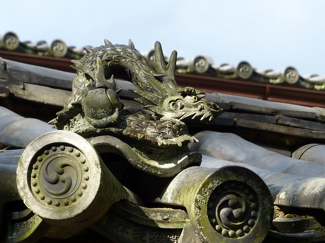Rooftop dragon, Toshodaiji Temple
