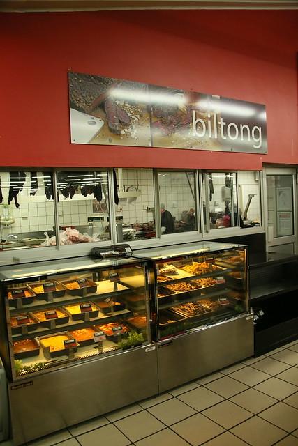 Biltong counter.  Only in SA