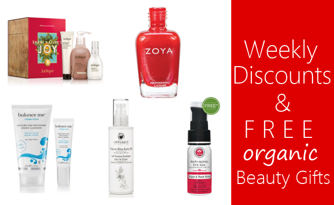 Weekly Discounts and Free Organic Beauty Gifts #44