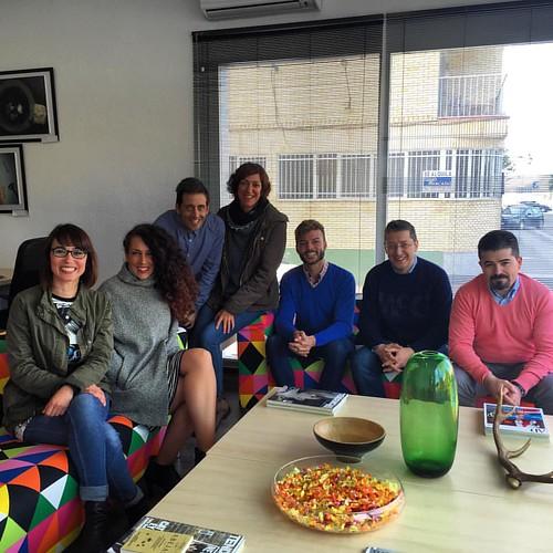¡Cuánto hemos disfrutado hoy en @espaciolanao en #Pozoblanco! Una sesión de trabajo fabulosa con CADE, empresarios, Ayuntamiento, etc. de la comarca de los Pedroches.