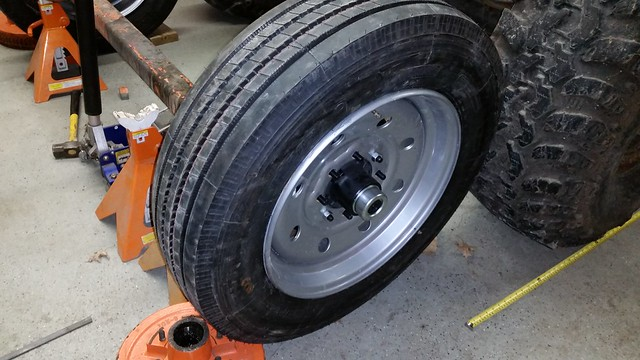 Single Axle Tires : Single axle trailer build pirate and off