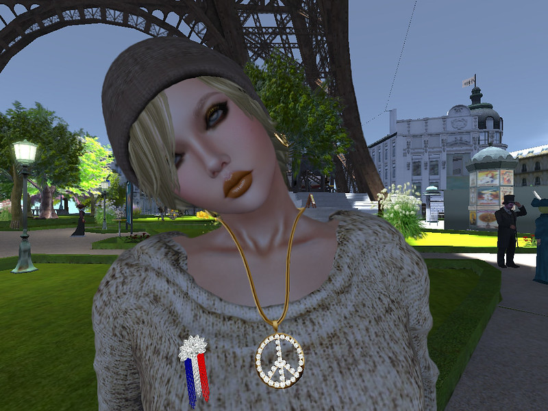 Zuri Rayna~ Copy Diamond Peace Pendant  LUCKY CUPCAKE NOV 2015 & Zuri Rayna- Memorial Day Pin-Let Freedom Ring