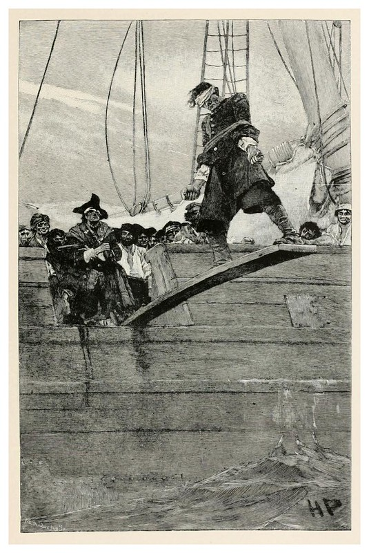 003-el castigo de la plancha- Howard Pyle's book of pirates..1921