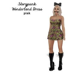 * The Rebakery/Radio Grind * Storypunk Wonderland Dress Pink @ The Wash Cart Sale