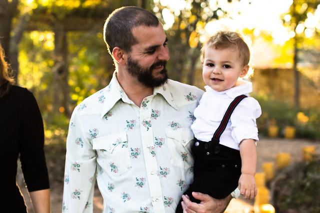 Austin family photos at the Lady Bird Johnson Wildflower Center