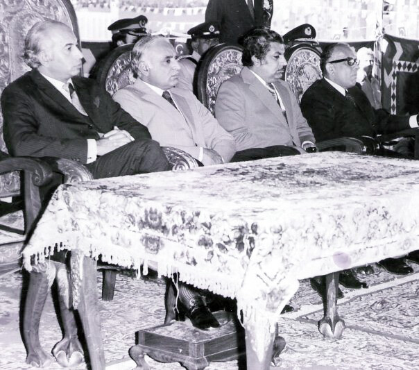 Z A Bhutto, Justice Shaikh, Jatoi and my father
