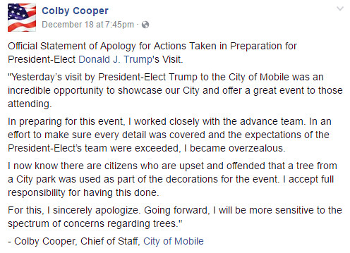 "Colby Cooper's ""Apology"""