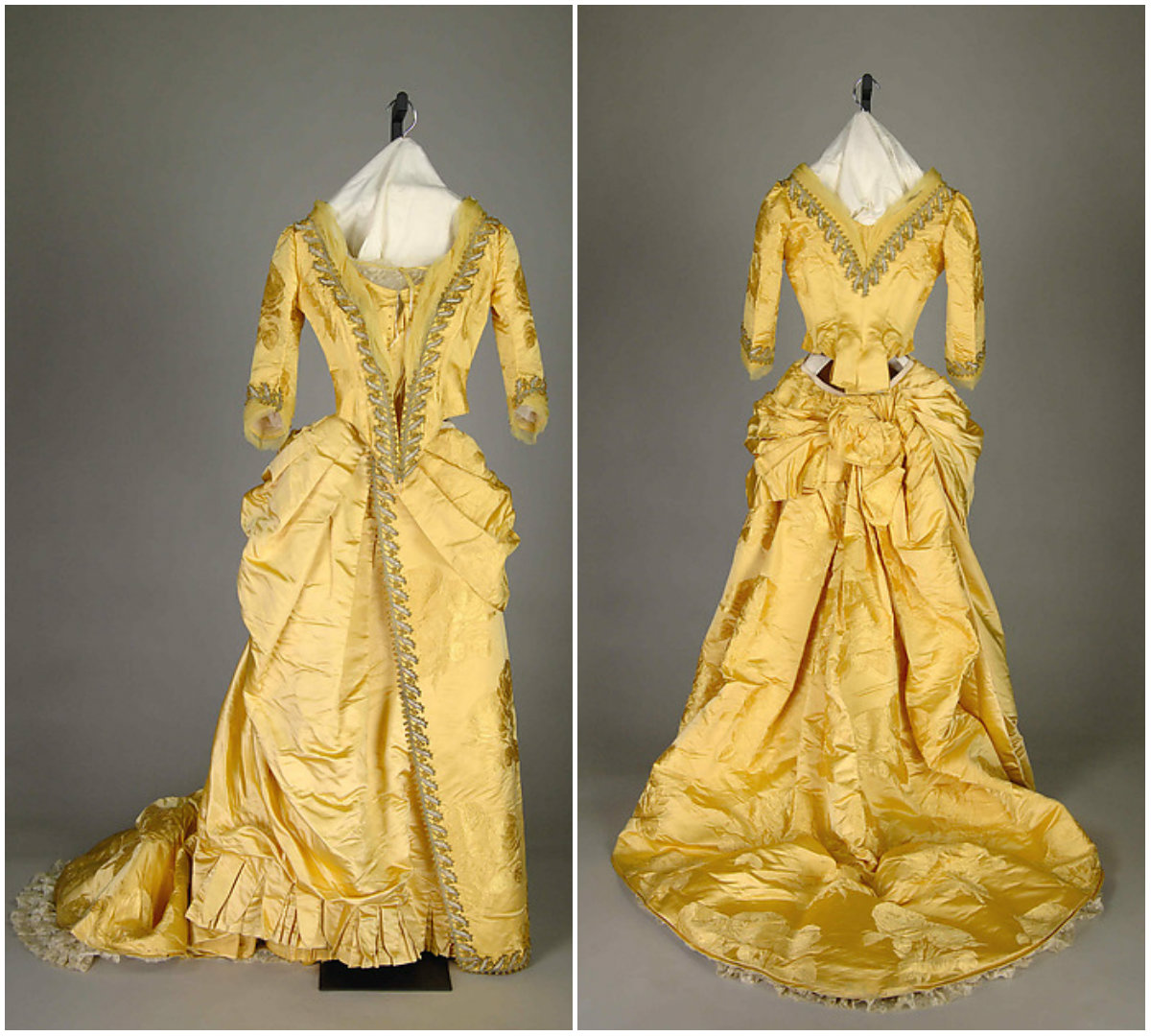 1888. Evening Gown. Silk, beads, metallic. metmuseum