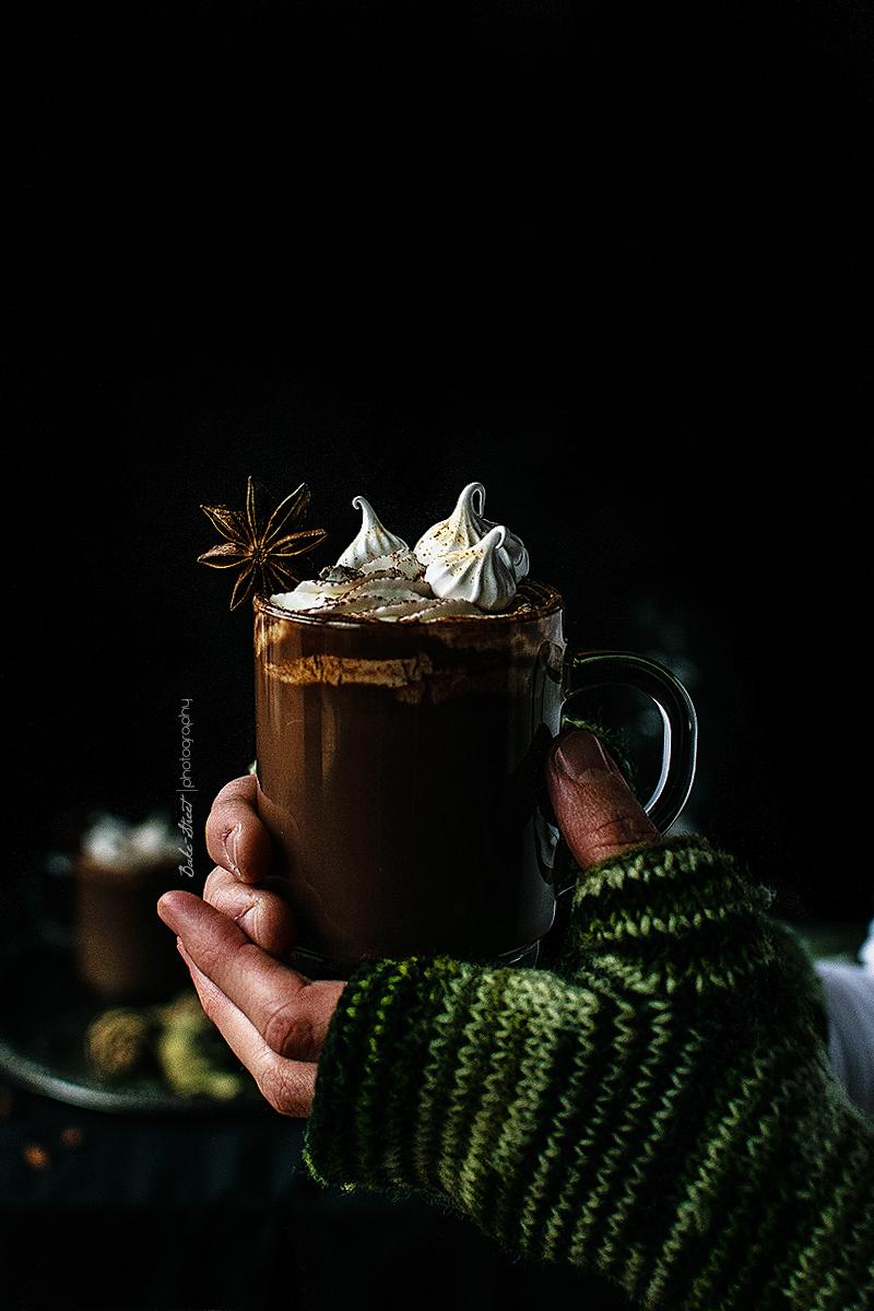 Chocolate a la taza de pan de jengibre