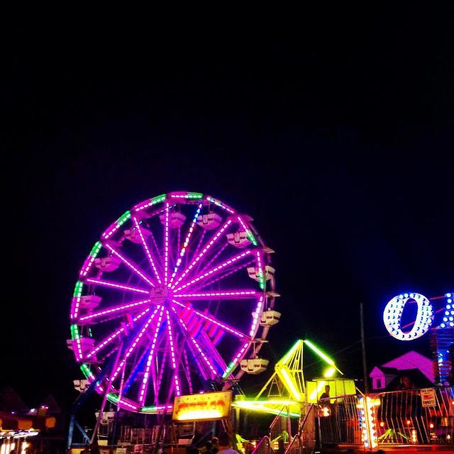 Ride the lights. #carnival #md #hampstead #firehouse #ferriswheel