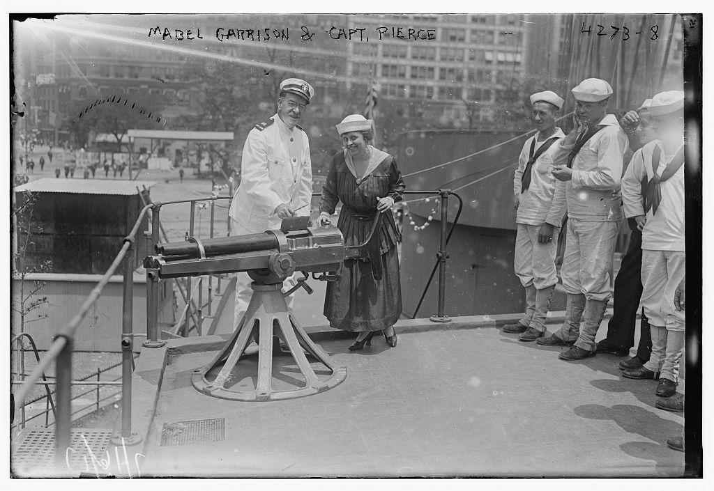 Mabel Garrison & Capt. Pierce (LOC)