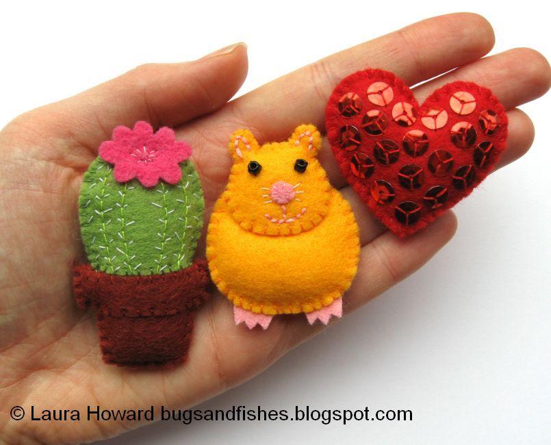 Laura Mini Felt Cactus & Hamster & Heart