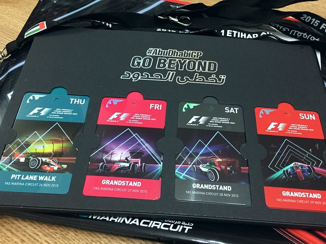 Early arrival of the Abu Dhabi 2015 F1 tickets.