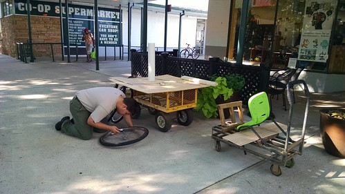 Building the Makerspace 125 Parade Float, August 8, 2015