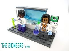 Dr. Hemond and Dr. Bhasi - Lego Bioneers