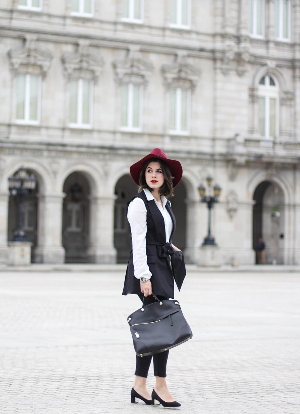 look parisino con bolso piper de furla streestyle myblueberrynightsblog