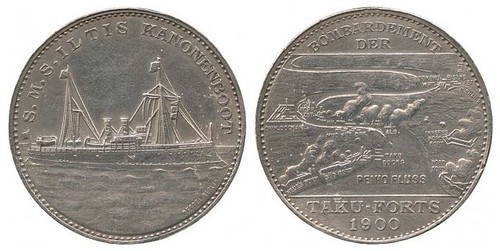 Battle of the Taku Forts medal 1900