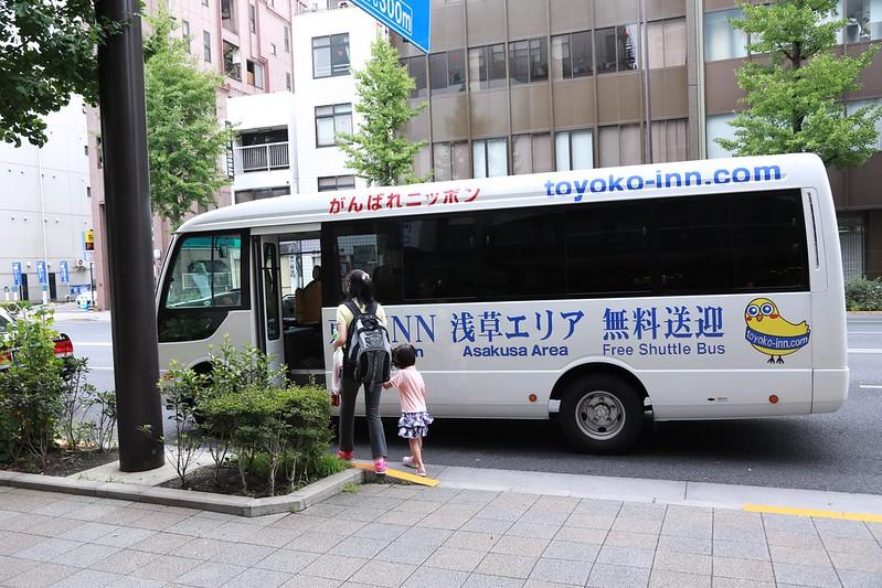 東橫INN往來上野免費接送車