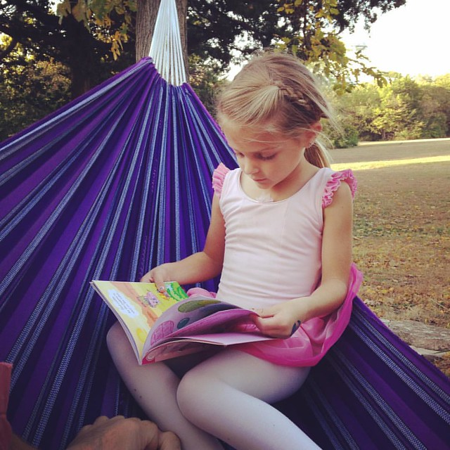 Hammocks and books.