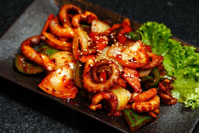 Spicy-Fried-Octopus