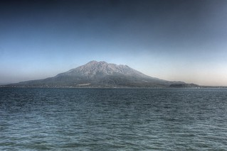 View of Sakurajima in afternoon on OCT 24, 2015 (5)
