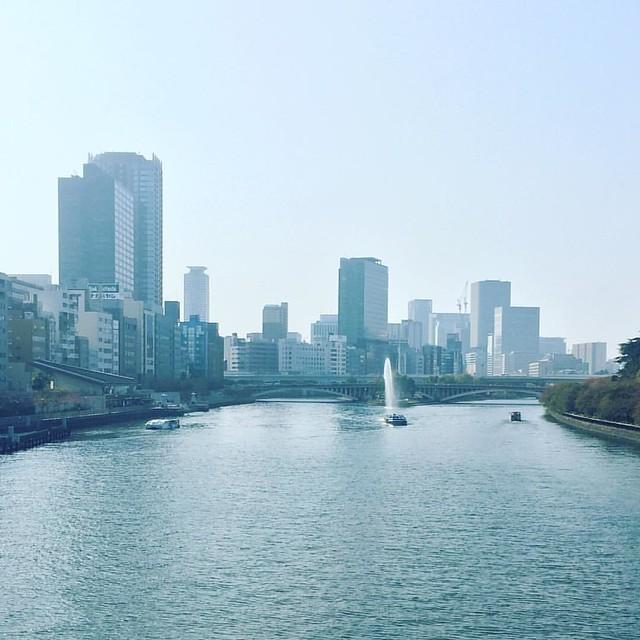 大阪は川の街。 川べりは気持ちいいわぁ。