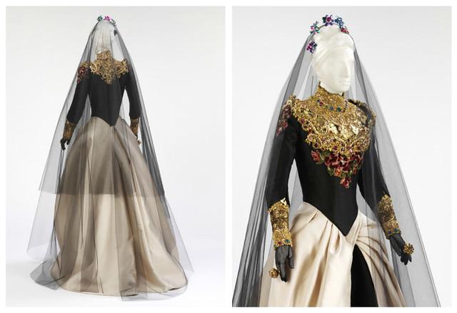 Robe de mariée noire, Lacroix Printemps-été 1993
